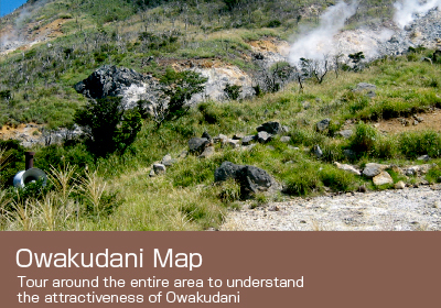 Owakudani Map